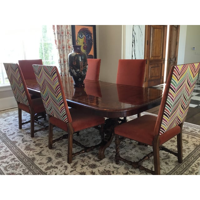 Mediterranean Alfonso Marina Spanish Wood Dining Table For Sale - Image 3 of 12