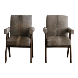 1955 Pierre Jeanneret Committee Armchairs- A Pair For Sale