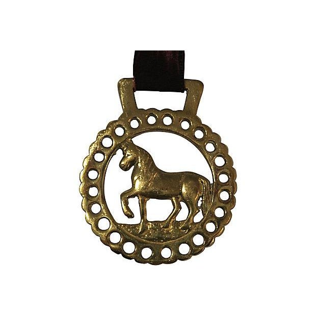 Antique English Brass Horse Ornament - Image 2 of 2