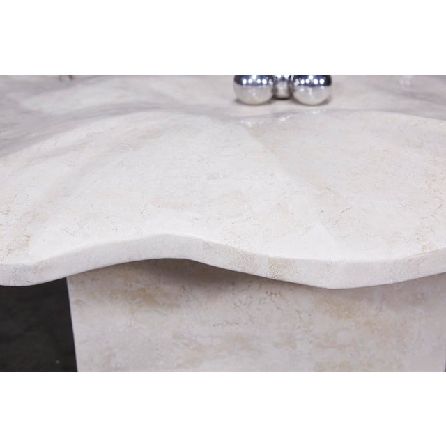 """Metal 1990s Post-Modern Tessellated Stone """"Chiseled"""" Cocktail Table For Sale - Image 7 of 13"""