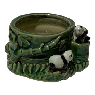 1960s Vintage Panda Bamboo Planter For Sale