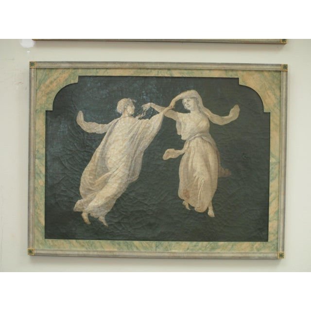 Pair of Grisaille Paintings of Classical Figures For Sale - Image 4 of 9