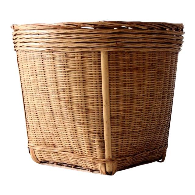 Vintage Woven Reed Basket - Image 1 of 10