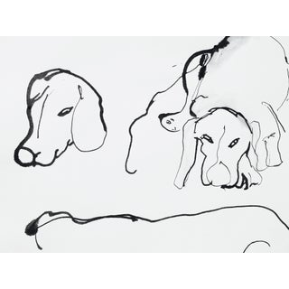 Impressionist Portrait of Two Dogs For Sale