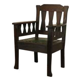 Antique Mission Oak Arts and Crafts Period Armchair For Sale