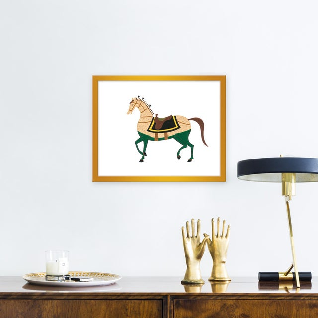 Giclée on textured fine art paper with gold frame. Willa Heart is the brainchild of dyslexic maximalist Alyssa Jill...