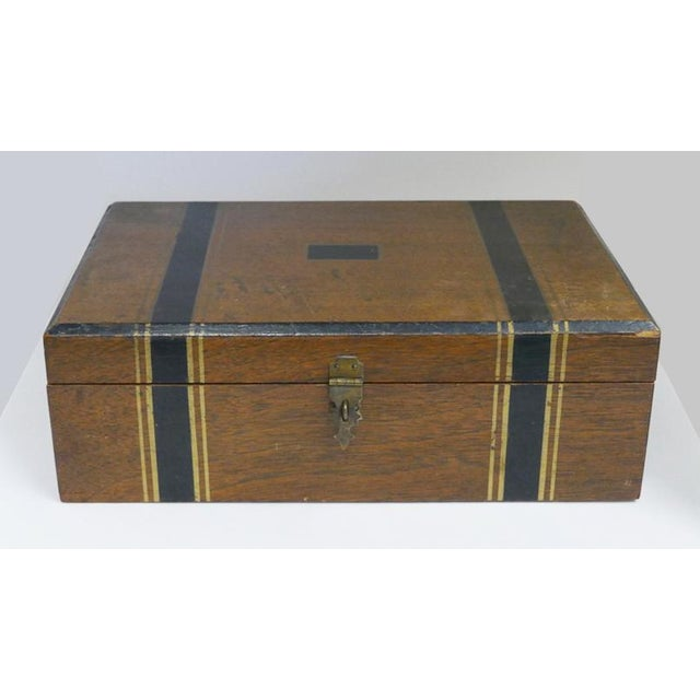 Beautiful Antique 1800's portable writers desktop The writers desk is lined with a green velvet writing pad There are...