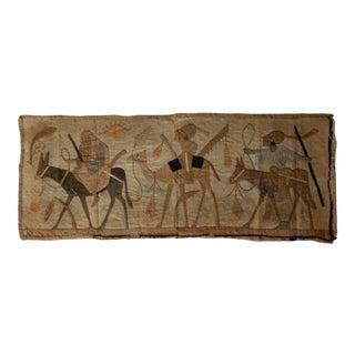 1920s Egyptian Linen Tapestry For Sale