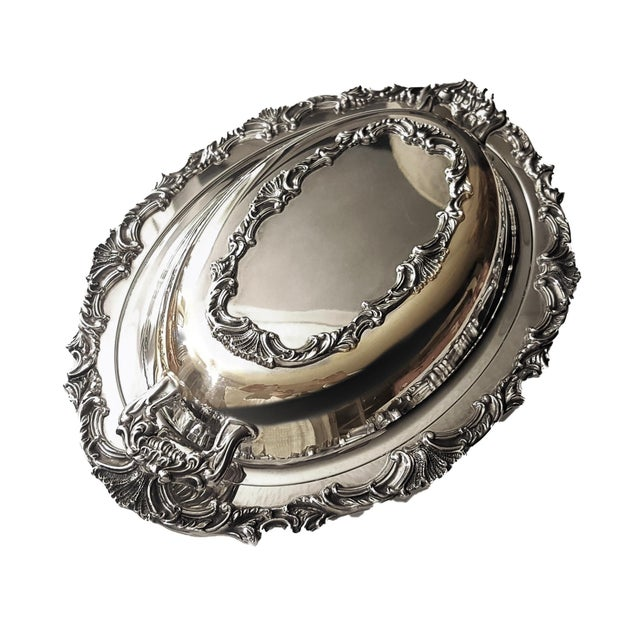 Metal Ascot by Community Silverplate Vegetable Dish, Double/Covered For Sale - Image 7 of 7