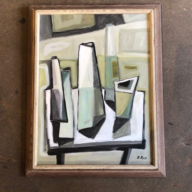 2010s Original Stewart Ross Modernist Still Life Painting For Sale - Image 5 of 5
