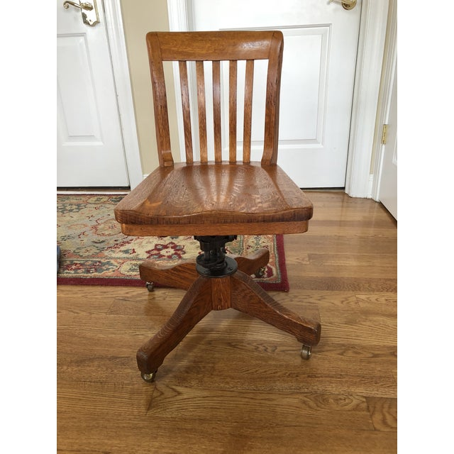 Early 20th Century Antique The Sikes Company Banker's Chair For Sale - Image 12 of 12