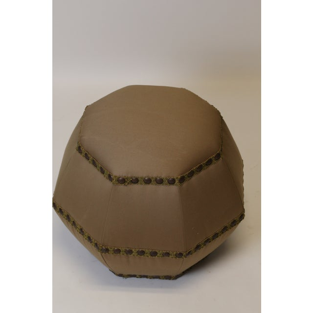 Contemporary Contemporary Octagonal Ottoman/Pouf For Sale - Image 3 of 4