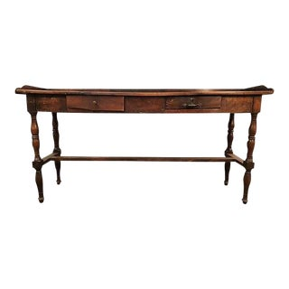 Rare 18 Century Antique French Foyer Table With Drawers For Sale