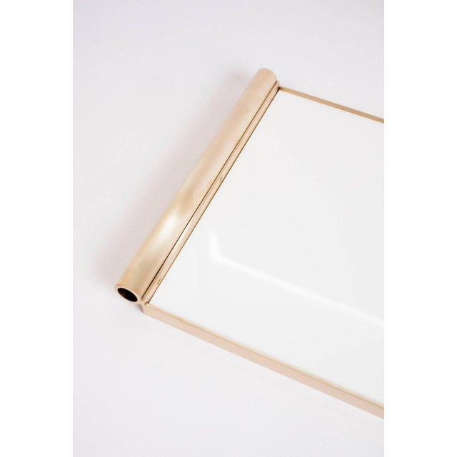 Orphan Work Modern Contemporary 001 Tray in Brass and Lucite by Orphan Work For Sale - Image 4 of 7