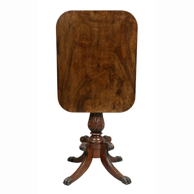 American Mahogany Tilt-Top Table For Sale - Image 12 of 12