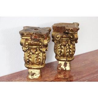 18th Century Baroque Gold Leaf Corinthian Capitals From a Portuguese Church - a Pair Preview