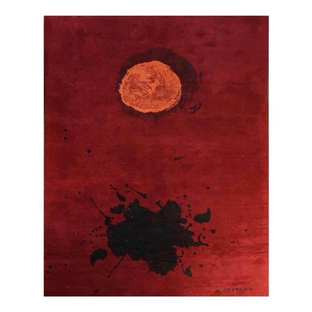 "Exclusive Wool Rug After Adolph Gottlieb, ""Burst"" For Sale"