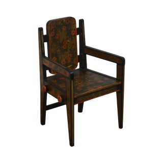 19th Century Hand Painted Childs Folk Art Armchair For Sale