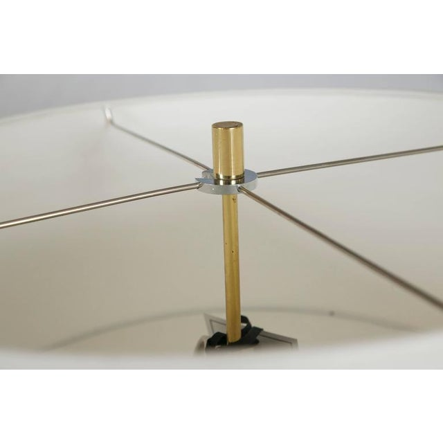 Midcentury Brass and Formica Table Floor Lamp - Image 1 of 6