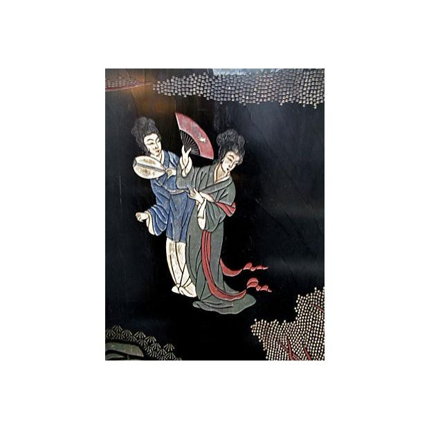Japanese Carved Panels - Set of 4 - Image 2 of 6
