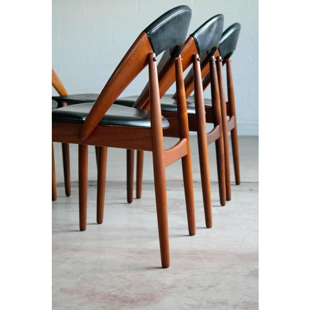 1960s Very Rare Set of Six Dining Chairs by Arne Hovmand Olsen For Sale - Image 5 of 10