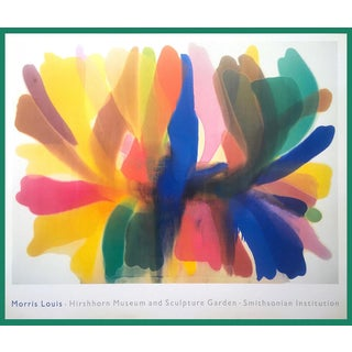 "Original Vintage 1989 Morris Louis Exhibition Lithograph Poster ""Point of Tranquility"" 1959 For Sale"