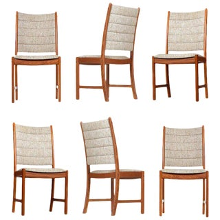 1960s Johannes Andersen Teak Dining Chairs 7171 for Uldum Møbelfabrik Set of Six For Sale