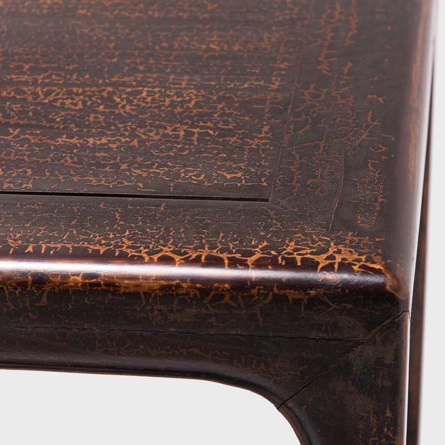 19th Century Chinese Black Lacquer Wine Table For Sale In Chicago - Image 6 of 7