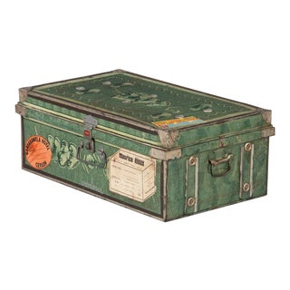 1950s Steel Steamer Trunk by Universal, India For Sale