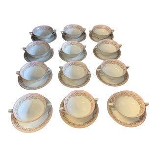 12 Setting Royal Tettau Bowl, Saucer & Bread Plate - 36 Piece Set For Sale