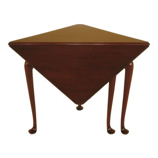 Kittinger CW-2 Colonial Williamsburg Mahogany Corner Table For Sale