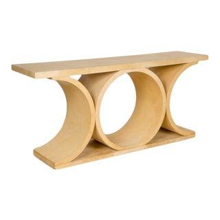K.Springer-Style Parchment Console Table For Sale