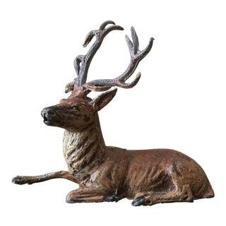 Vintage Lead Deer Figurine For Sale