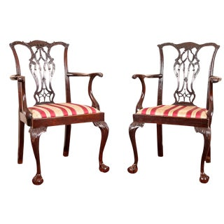 Antique Chippendale Chairs - A Pair