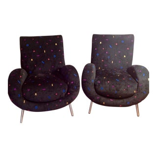 Mid Century Modern Confetti Chairs - a Pair For Sale