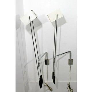 Mid Century Modern Pair Sonneman Adjustable Chrome Light Fixtures Sconces- A Pair Preview