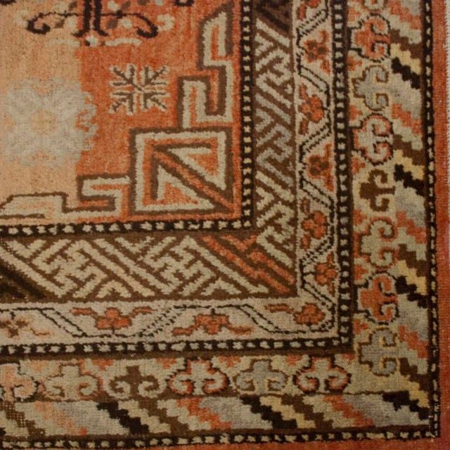 Early 20th Century Central Asian Samarghand Carpet - 4′8″ × 8′9″ For Sale - Image 4 of 5