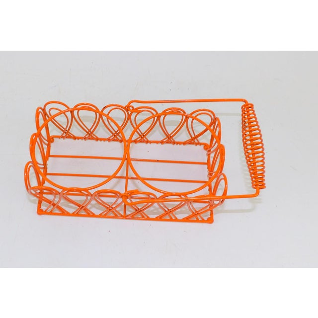 Vintage Orange Wine Bottle Rack For Sale - Image 4 of 8