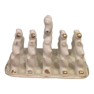 Victorian Porcelain Toast Rack For Sale