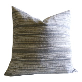 """16"""" Boho Chic Grey and Ivory Hmong Pillow"""