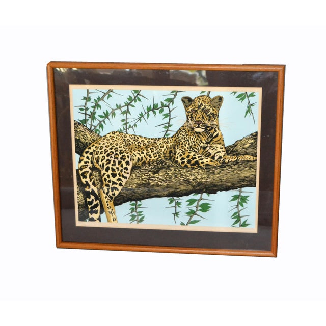 Original Lithograph 'Cheetah' Signed by Artist Mac Couley For Sale - Image 12 of 13