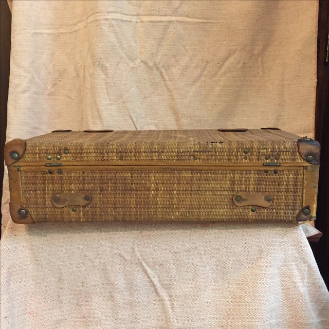 Rattan Suitcase For Sale - Image 5 of 11
