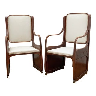 Antique Bentwood Armchairs by Koloman Moser- a Pair For Sale