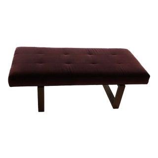 Modern Kravet Velvet Bench For Sale