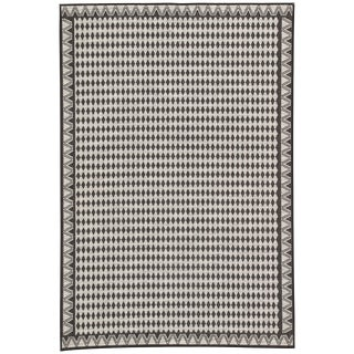 Nikki Chu by Jaipur Living Melon Indoor/ Outdoor Geometric Area Rug - 2′ × 3′7″ For Sale