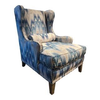 Early 20th Century Vintage Transitional Wing Chair For Sale