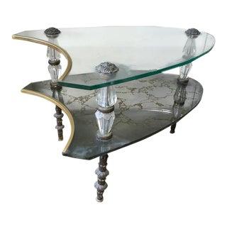Hollywood Regency, Mid Century Glass Table
