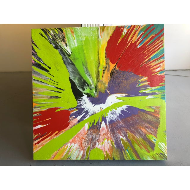 """2010s Contemporary Abstract Painting """"Lip Balm"""" by Misty Wilson For Sale - Image 5 of 6"""