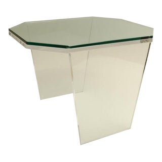 Vintage Mid-Century Octagonal Lucite Occasional Table For Sale