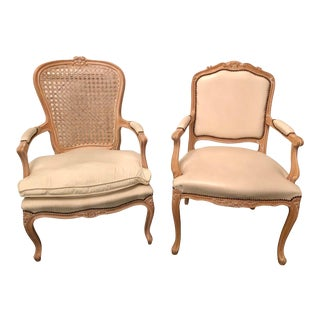 Late 20th Century Louis XV Style Armchairs- a Pair For Sale